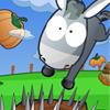 Un asino che corre attraverso la fattoria dove ci sono molti oggetti. Alcuni oggetti possono…